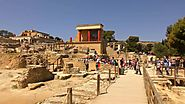 The Knossos Palace in Heraklion Crete