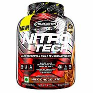 Muscletech Performance Series Nitrotech Whey Protein Peptides & Isolate (30g Protein, 2g Sugar, 3g Creatine, 6.8 BCAA...