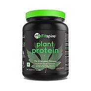 Fitspire Vegan Plant-based Pea Protein, Lean Protein | No Added Sugar, Cholesterol Free, Gluten Free, Soy Free, Non-G...