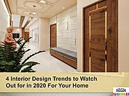 4 Interior design trends to watch out for in 2020 for your home
