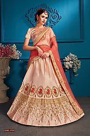 the fresh collection of Designer Lehenga choli online at the best prices only at PinkVink. Shop for Designer lehenga ...
