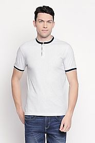 Byford Men Printed White T Shirt - Selling Fast at Pantaloons.com