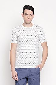 Urban Ranger Men Printed White T Shirt - Selling Fast at Pantaloons.com