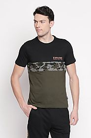 Ajile Men Cut & Sew Grey T Shirt - Selling Fast at Pantaloons.com