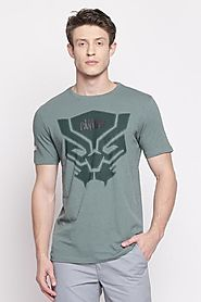 Sf Jeans Men Graphic Printed Green T Shirt - Selling Fast at Pantaloons.com