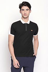 Ajile Men Solid Black T Shirt - Selling Fast at Pantaloons.com