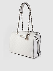 Buy GUESS White Textured Shoulder Bag - Handbags for Women 11528284 | Myntra