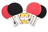 STIGA Performance 4-Player Table Tennis Racket Set