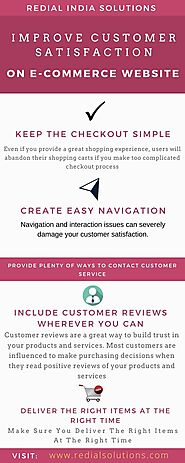 Steps to improve Customer Satisfaction on your E-Commerce Website