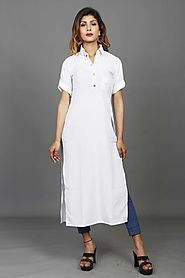 White Summer Special Party Kurti