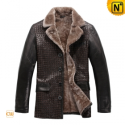 Christmas Fur Lined Mens Coat CW819177 - CWMALLS.COM