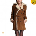 Christmas Double Breasted Women Coat CW695161 - CWMALLS.COM