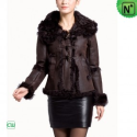 Christmas Fur Lined Leather Jacket CW695107 - M.CWMALLS.COM