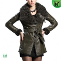 Christmas Fur Lined Leather Jacket CW684053 - M.CWMALLS.COM