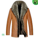 Moscow Mens Winter Leather Fur Coat CW852466