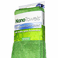 Nano Towels 14x14 4-Pack (Nano Green) | Cleans With Only Water