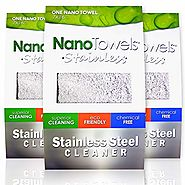 Nano Towels Stainless Steel Cleaner 3-PACK | The Amazing Chemical Free Stainless Steel Cleaning Reusable Wipe Cloth |...