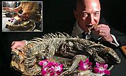 Amazon boss Jeff Bezos pictured eating an iguana | Daily Mail Online