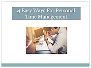4 Easy Ways For Personal Time Management