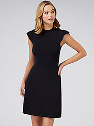 Buy Forever New Women Black Solid Sheath Dress - Dresses for Women 10758328 | Myntra
