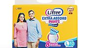 Buy Lifree Large Size Diaper Pants - 10 Count At Amazon.in - Health Care