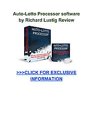 Auto Lotto Processor software Richard Lustig Review - Page 1