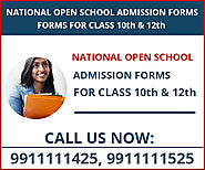 Open School admission in Delhi for Open school 10th / 12th admission form 2021-2022 last date