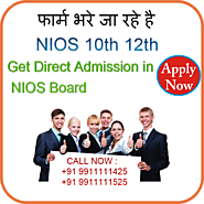 Nios Admission 2021 in Delhi for Nios 10th admission, Nios 12th Admission and Nios online admission.
