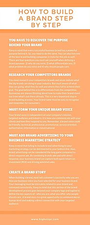 how to build a brand step by step