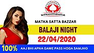 BALAJI NIGHT 22.04.2020 | AAJ KA BALAJI NIGHT MATKA GAME GUESSING TRICK | MATKA SATTA BAZZAR