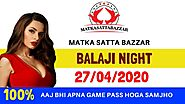 BALAJI NIGHT 27.04.2020 | AAJ KA BALAJI NIGHT SATTA MATKA GAME GUESSING TRICK | MATKA SATTA BAZZAR