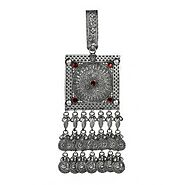 Traditional Silver Keychain | Tribal Saree Waist Challa for Women | Best Price Keychain & Keyring |Joharcart