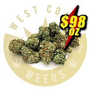 Website at https://www.westcoastweeds.com/product/98oz-black-domina-aaa-indica/