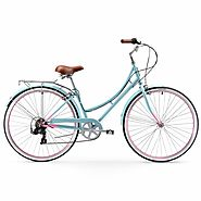 Firmstrong Mila Women's Hybrid 7 Speed Comfort Beach Cruiser Bike