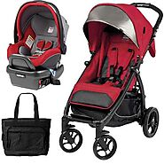 Peg Perego Booklet Stroller Travel System with Diaper Bag Tulip