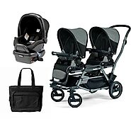 Peg Perego Duette Piroet Atmosphere Travel System with Diaper Bag