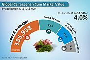 Carrageenan Gum Market - Global Industry Analysis, Size and Forecast, 2016 to 2024