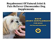 Requirement of natural joint & pain reliever glucosamine dog supplements