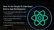 How To Get People To Like React Native App Development - Mob App Development