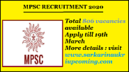 MPSC RECRUITMENT – पुलिस भर्ती 2020 | total 806 vacancies