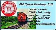 RRB Chennai Recruitment | Apply Online | 197 posts