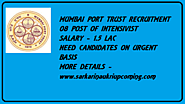 Mumbai Port Trust Recruitment | Intensivists 08 Post | Salary 1.5 lac