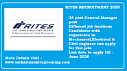 Rites Recruitment 2020 | Apply online | Vacancies available AGM JGM post