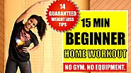 15 Min Easy Fat-Burning Home Workout + 14 Weight Loss Tips | Workout #WithMe