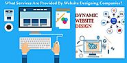 What Services Are Provided By Website Designing Companies?
