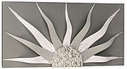 Hand-decorated Corazon Grey Solar Decorative Wall Art