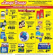 Longs drugs weekly ad specials (April 26 – May 2, 2020) | Longs drugs In Store Ads