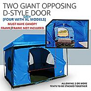 The Original-Authentic Standing Room Family Cabin Tent 8.5 FEET OF HEAD ROOM 2 or 4 Big Screen Doors Fast Easy SetUp,...