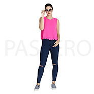 Passero Fussia Pink Top | Formal Wear Top | Formal Top For Girls