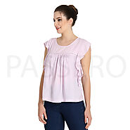 Passero Ruffle Sleeve Top For Women | Summer Wear Tops For Ladies
